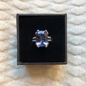 8.30ct Tanzanite Ring - 14KT White Gold